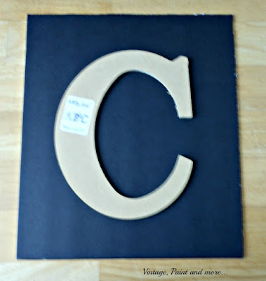Vintage, Paint and more... wood monogram used to diy wall art