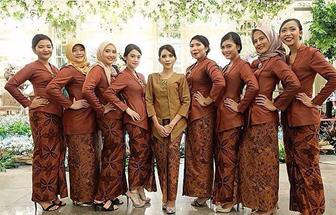 Baju Kebaya Kombinasi Batik Brokat Untuk Pernikahan