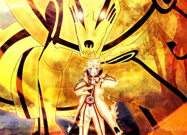 Naruto hợp nhất với sức mạnh của cửu vĩ cực ngầu