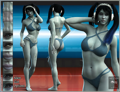 EJ Casiopea and Alien Girl for Genesis 3 Female