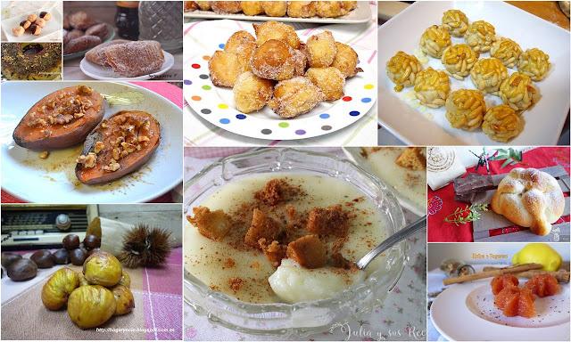 Dulces típicos del Dia de Todos los Santos. Julia y sus recetas