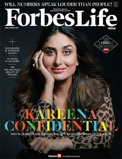 Kareena Kapoor Khan on Cover Page of Forbes Life India Magazine July August Issue