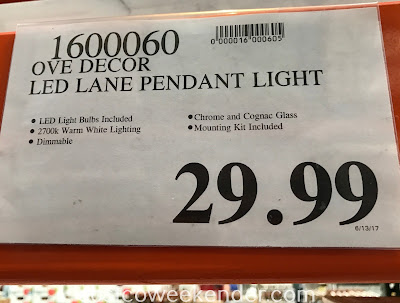 Deal for the Ove Decors LED Lane Pendant Light at Costco