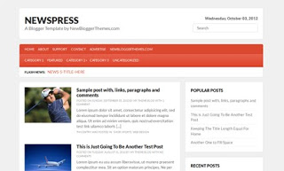 NewsPress Blogger Template