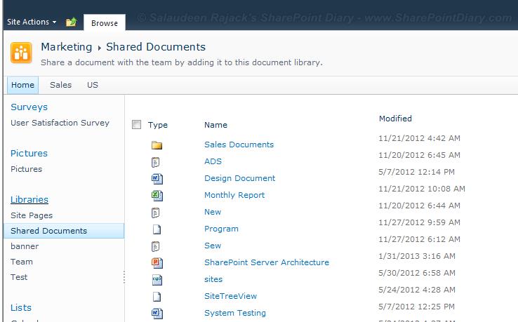 sharepoint 2010 list toolbar