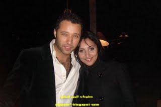 المطرب والممثل احمد فهمى وزوجته