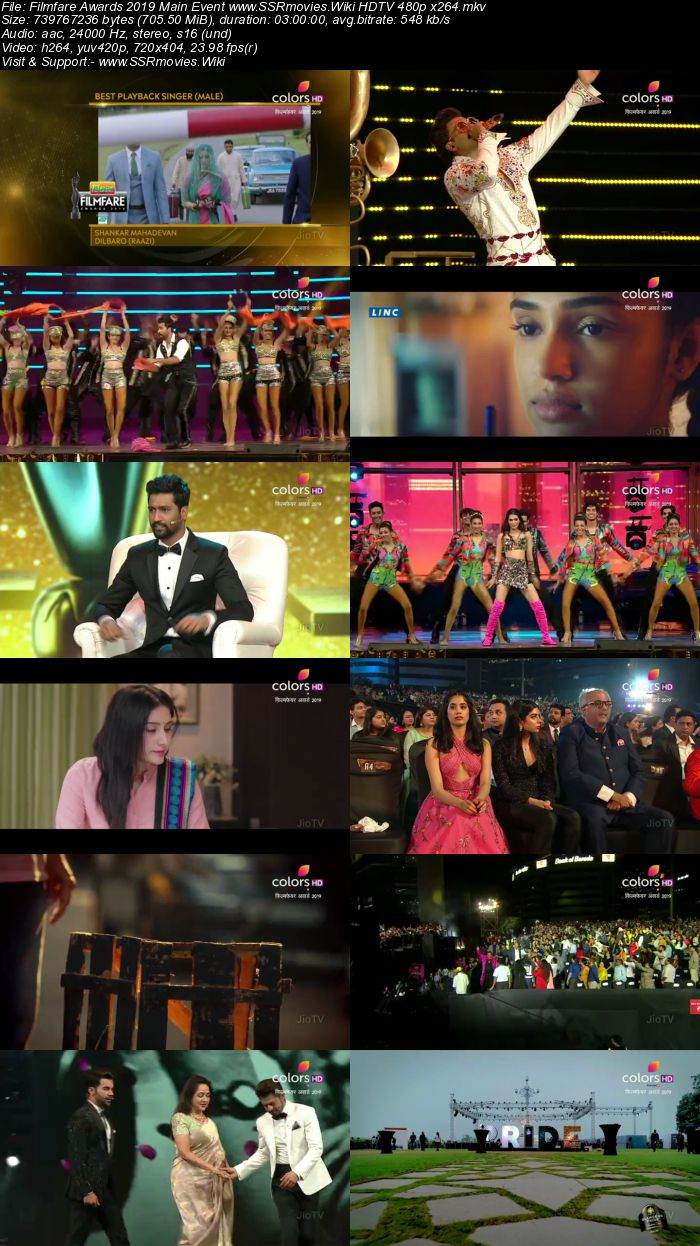 Filmfare Awards 2019 Main Event HDTV Full Show Download