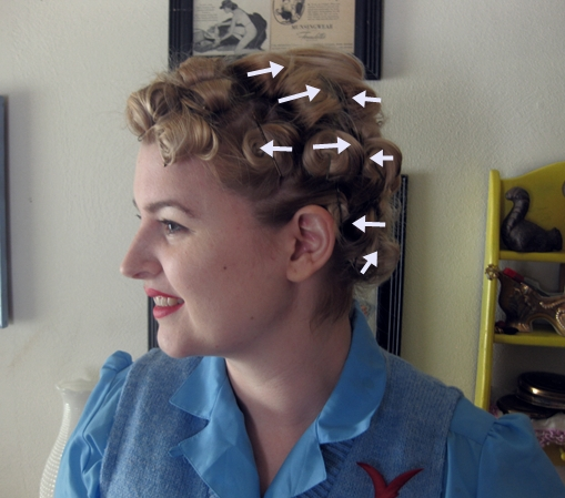 Pin Curl Diagram 02 Mitsubishi Lancer Radio Wiring Tutorial A Marilyn Set Va Voom Vintage Fashion The Hair At Nape Of My Neck Is Extremely Short And Hard To So I Just Did Best Roll That Up It Stays Off