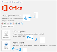 Versi office 365 Pro Plus