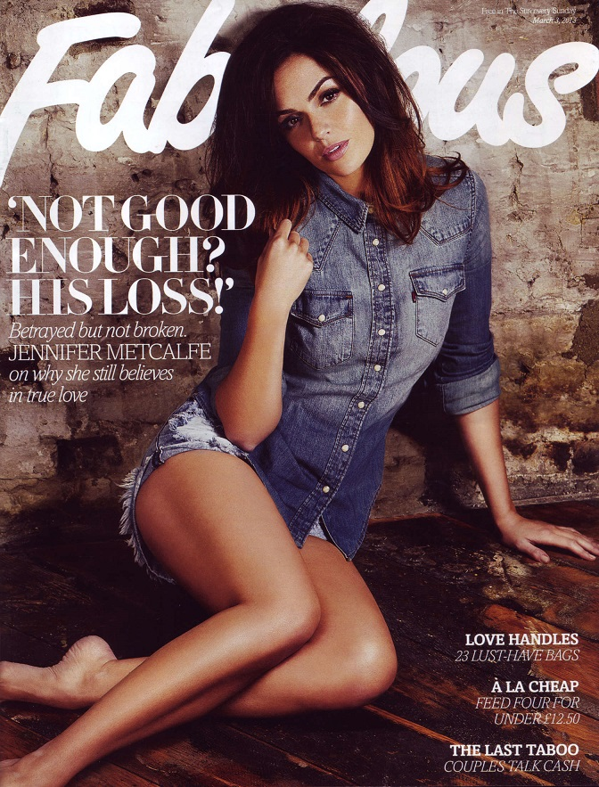 Jennifer Metcalfe poses for Fabulous Magazine March 2013