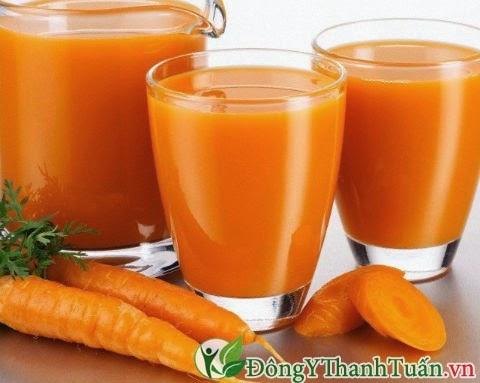 Cách chữa viêm họng đơn giản từ nước ép cà rốt