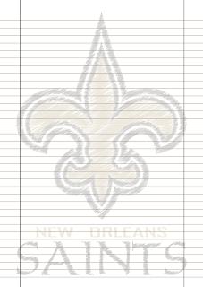 Papel Pautado Orleans Saints rabiscado PDF para imprimir na folha A4