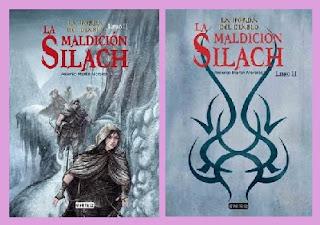Portadas del libro de fantasía juvenil La maldición Silach de Antonio Martín Morales