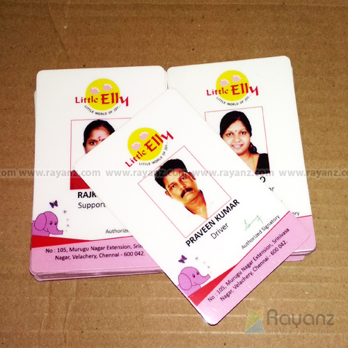 Quality PVC ID cards printing sample. Min 9 cards starting