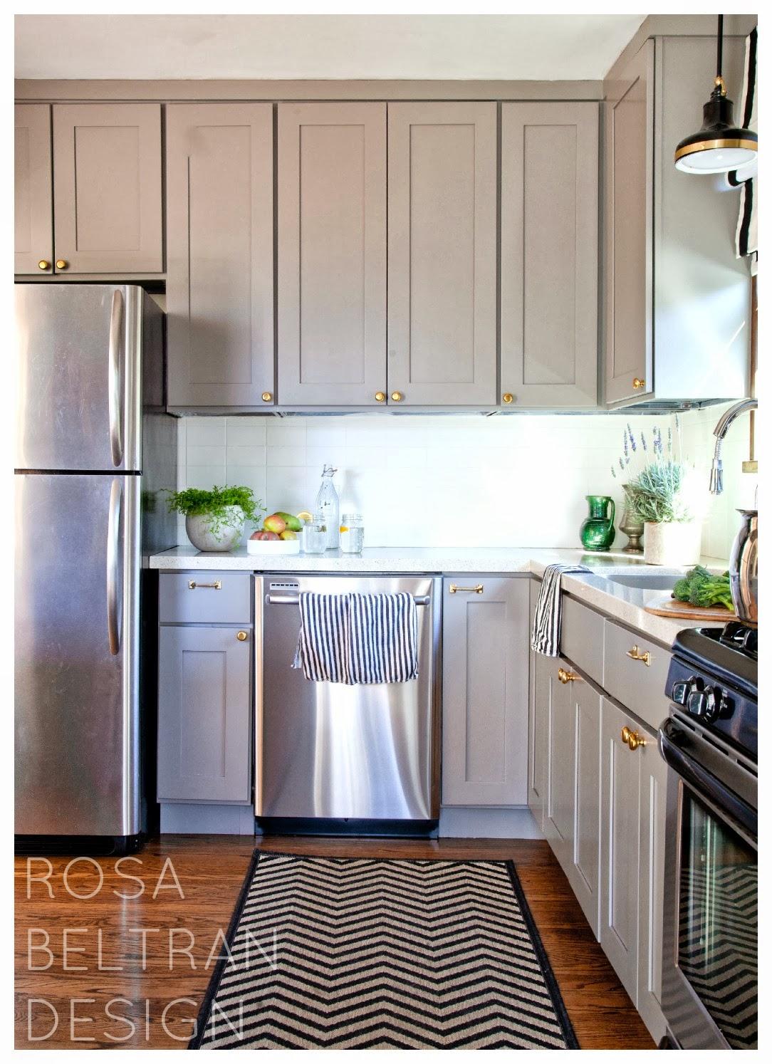 Rosa Beltran Design: DIY PAINTED TILE BACKSPLASH