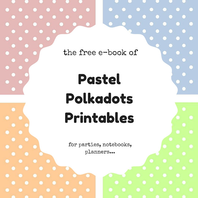 The free e-book of pastel polkadots printables