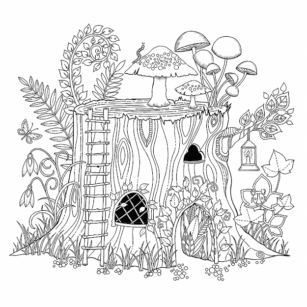 Free And Printable Secret Garden Coloring Book In Pdf Cisdem  Flowers And  Vegetation Coloring Pages For Adults