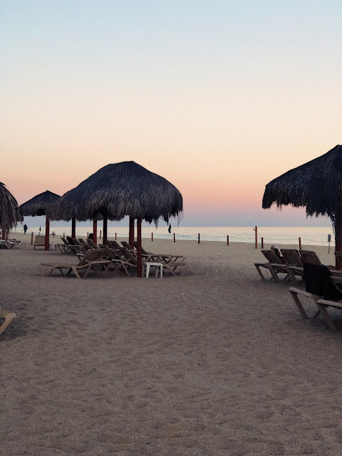 Sunset on the beach in Los Cabos, Mexico