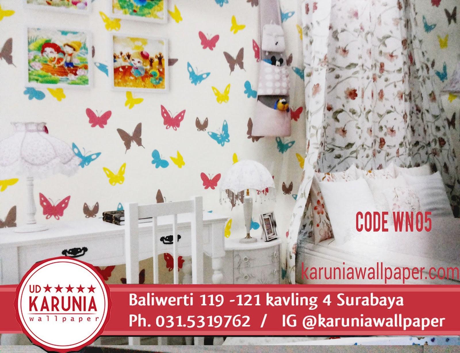 jual wallpaper kupu-kupu anak surabaya