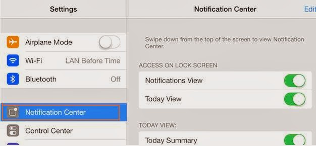 old Notification Center