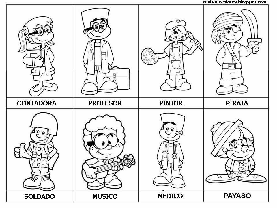 Maestra De Primaria Dibujos De Oficios Para Colorear