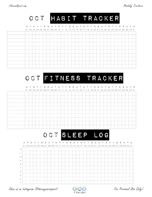 October 2018 Bundle | Free Printable for Bullet Journals and