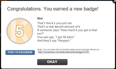 Smash run gives you running badges for completing challenges.