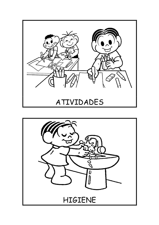 Fichas De Rotina Atividades E Higiene Pra Gente Miuda