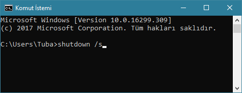 Komut İstemi penceresi -www.ceofix.com