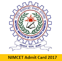 NIMCET Admit Card 2017