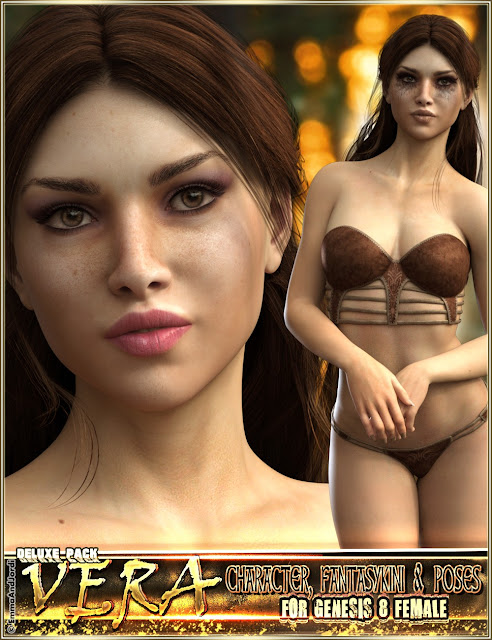 EJ Vera Deluxe Pack for Genesis 8 Female: Character, Fantasykini and Poses