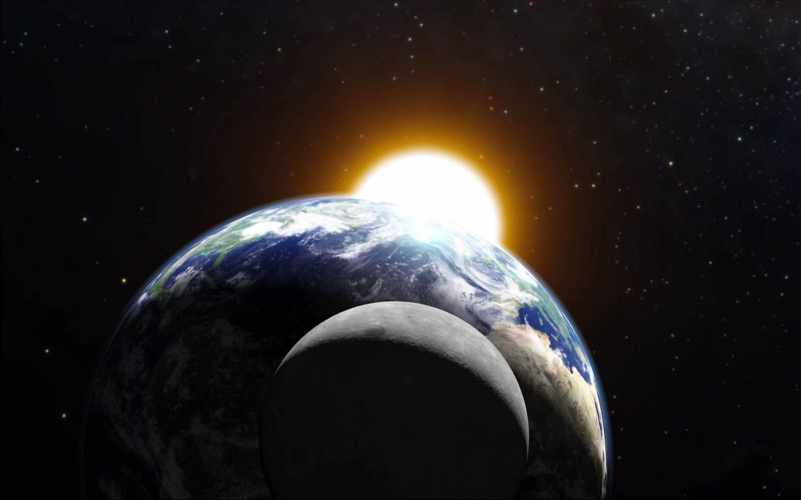 wallpapers: Earth And Moon Wallpapers