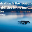 Sayings And Quotes About Concentration