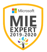 Microsoft Innovative Educator Expert MIEExpert 2019/2020