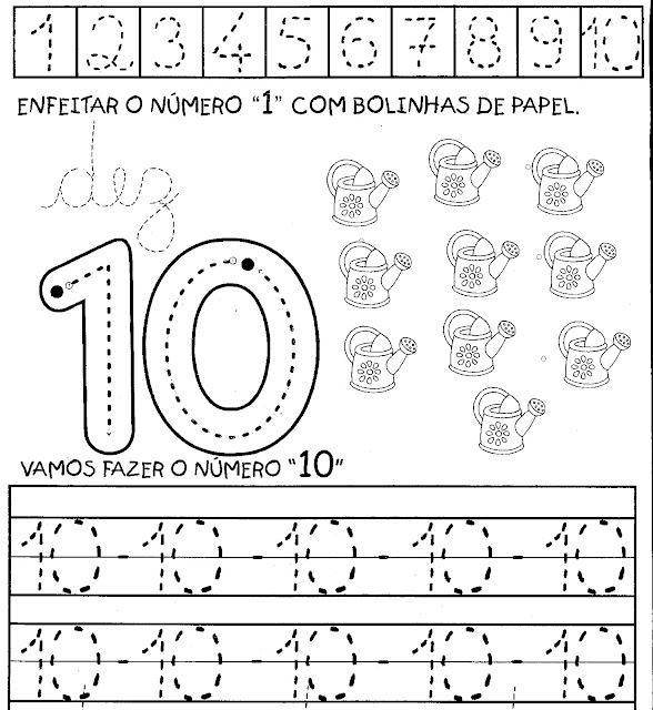 atividades com o numero 10