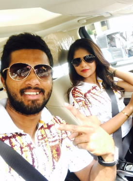 Dinesh Chandimal and Wife