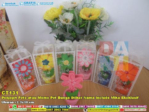 Penjepit Foto Atau Memo Pot Bunga Stiker Nama Include Mika Eksklusif