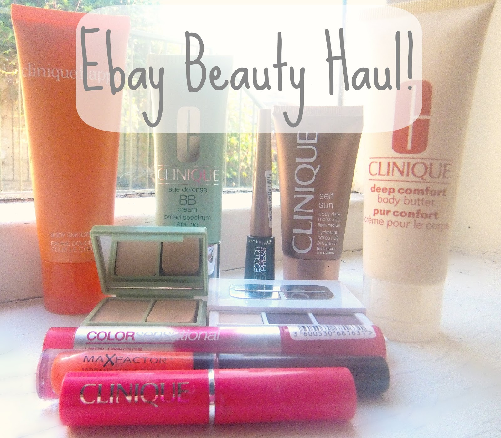 Ebay beauty haul, make up haul, clinique make up, clinique beauty products, max factor lip gloss, maybelline lip stain