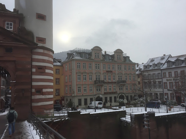 Snow at Hotel Holländer Hof Heidelberg