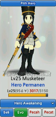 Musketeer Hero Evolution LostSaga Indonesia