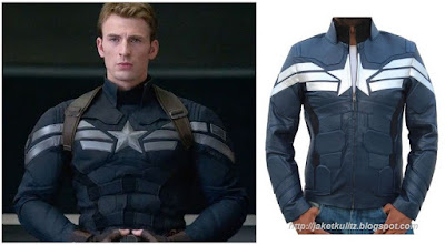 Gambar Jaket Kulit Steve Rogers Captain America Winter Soldier