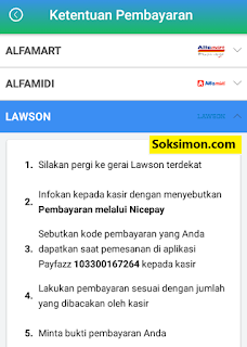 Cara isi saldo Payfazz di Lawson