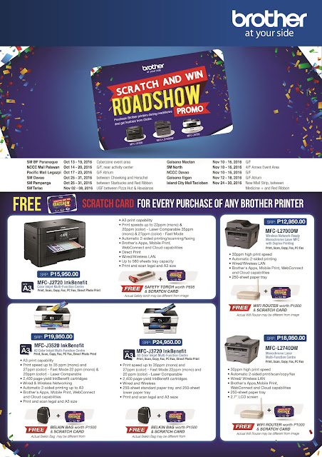 Brother's 2016 'Scratch and Win' roadshow promo