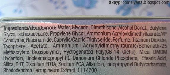 Ingredients of Gel