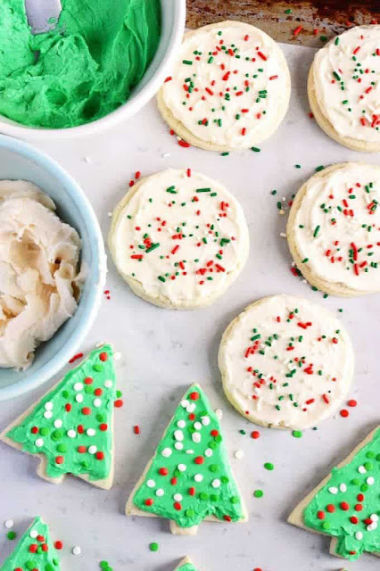 Yummy Gluten Free Frosted Sugar Cookies