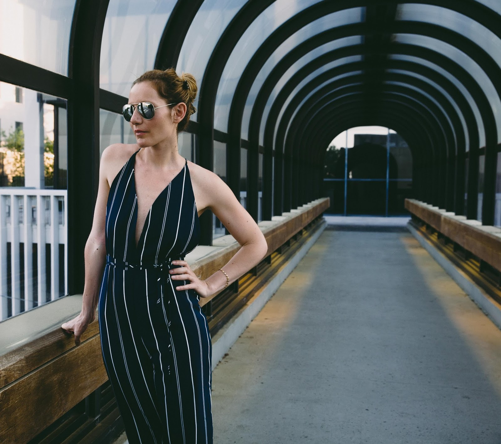 d2f56c3f0fc How to Wear a Striped Jumpsuit