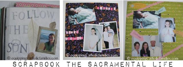 Scrapbook the Sacraments + FREE printable