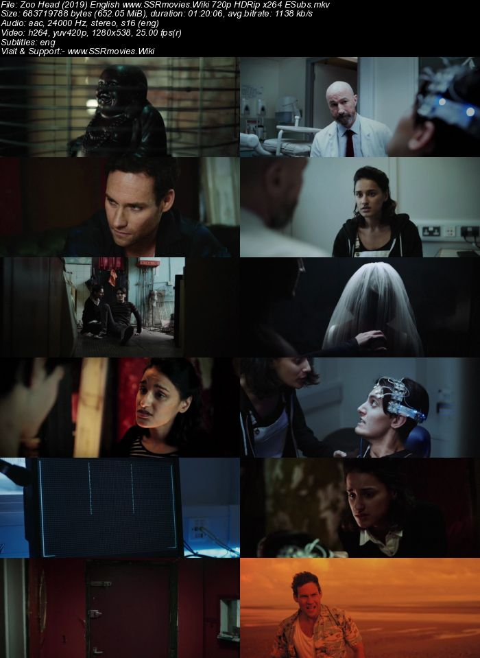 Zoo Head (2019) English 480p HDRip x264 250MB ESubs Movie Download