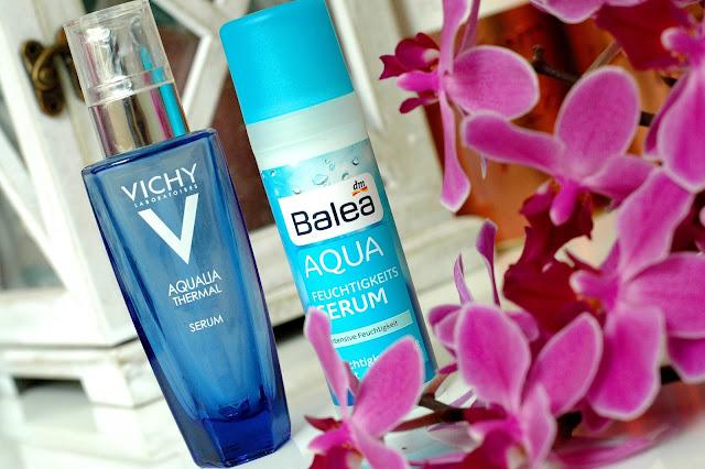 Vergleich Balea Aqua Feuchtigkeitsserum und Vichy Aqualia Thermal Serum