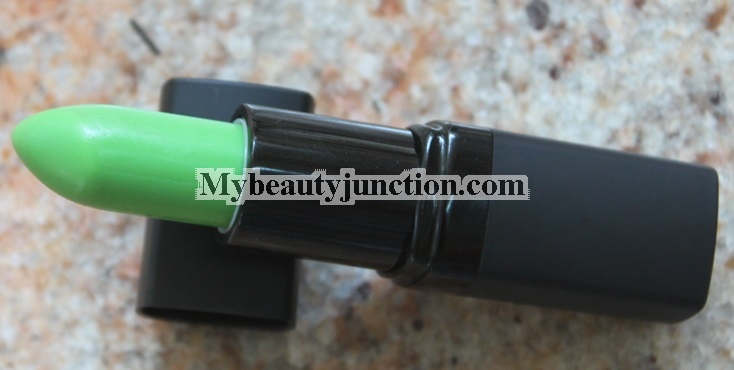 Barry M Touch of magic lip pain green lipstick review, swatches, photos
